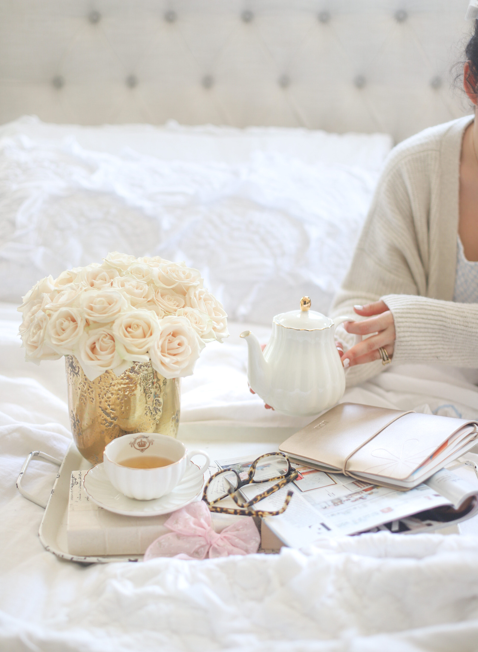Little Loves Notes, Weekend Pampering, Roses and Tea - GLITTERINC.COM