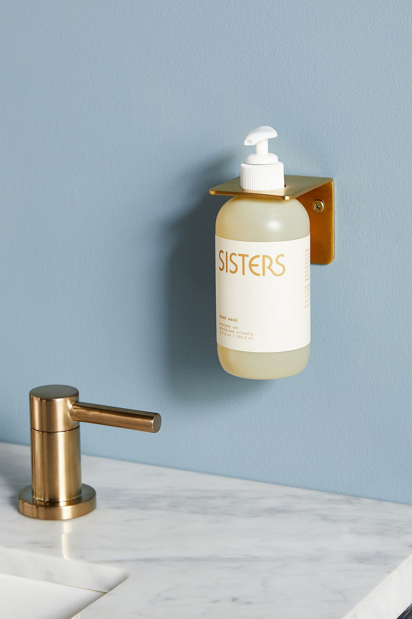 Anthropologie Wall-Mounted Soap Bottle Holder
