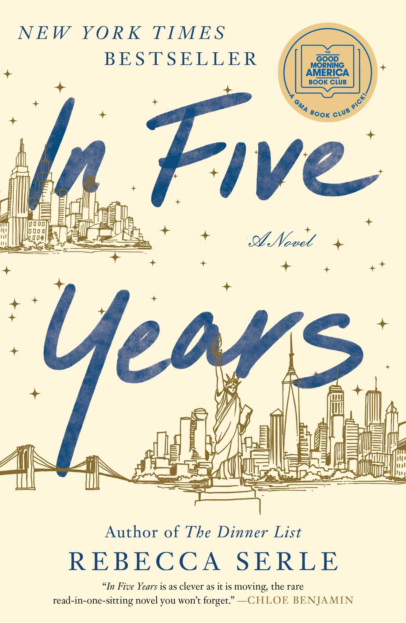 In Five Years by Rebecca Serle cover