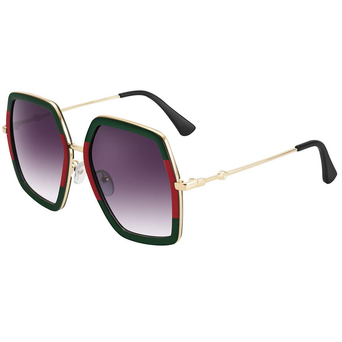 WOWSUN Oversized Big Fashion Sunglasses For Women Irregular Fashion Shades