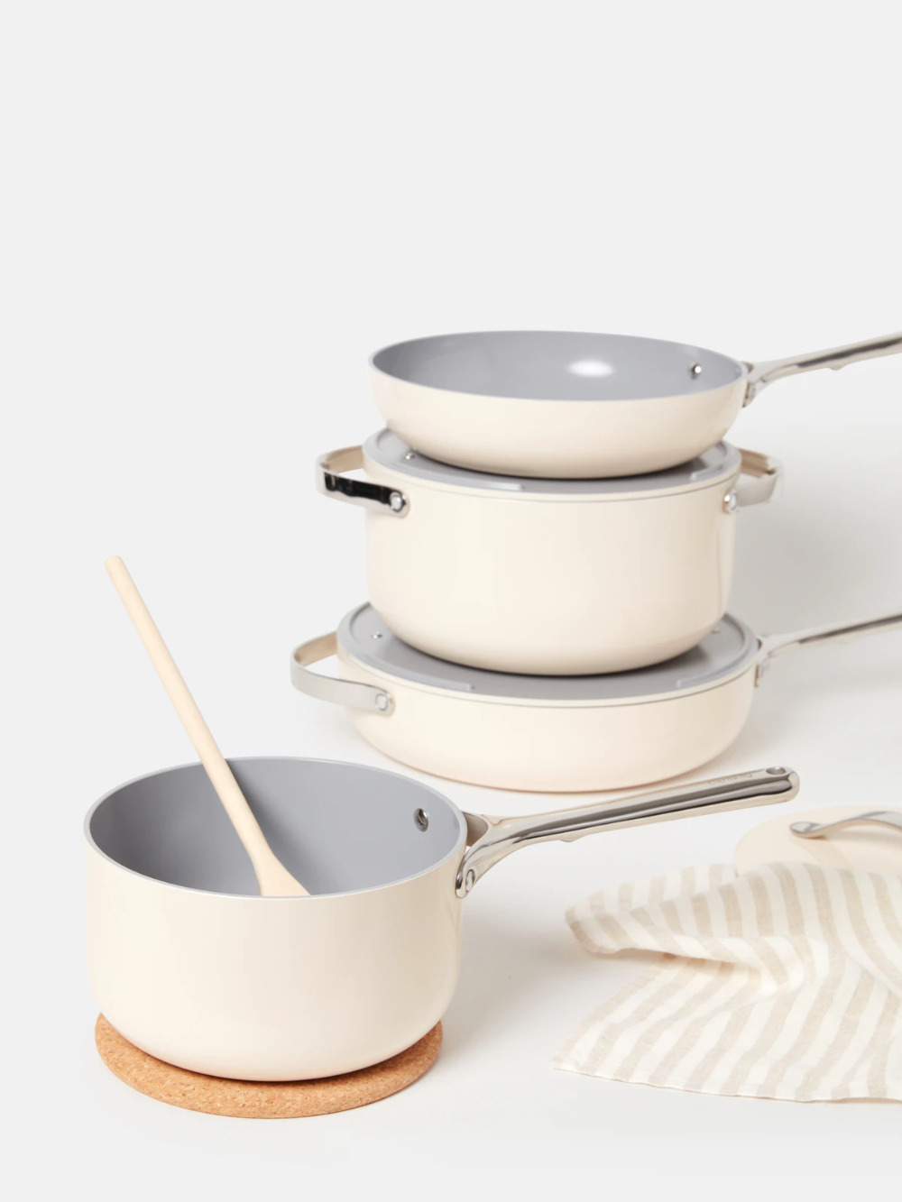 Caraway Non–Toxic Cookware & Storage Set in Cream