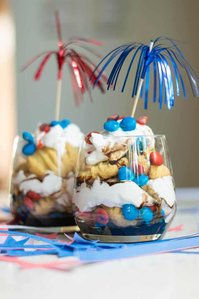 Easy Red White And Blue Trifle