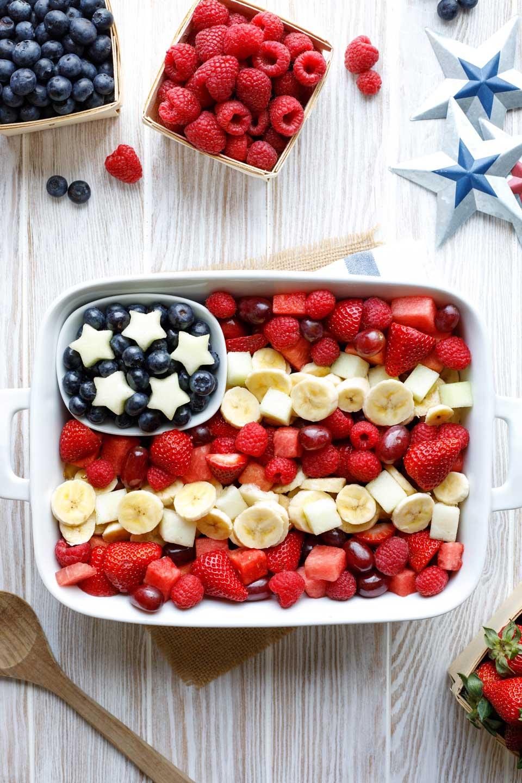 Star-Spangled, American Flag Fruit Salad
