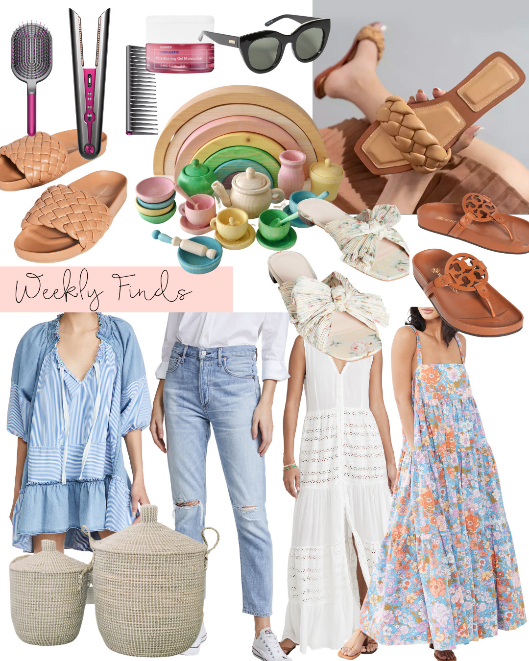 collage of items for WEEKLY FINDS and SO MANY GOOD SALES