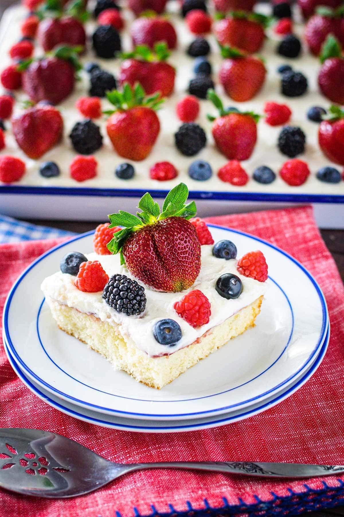 Easy Chantilly Sheet Cake
