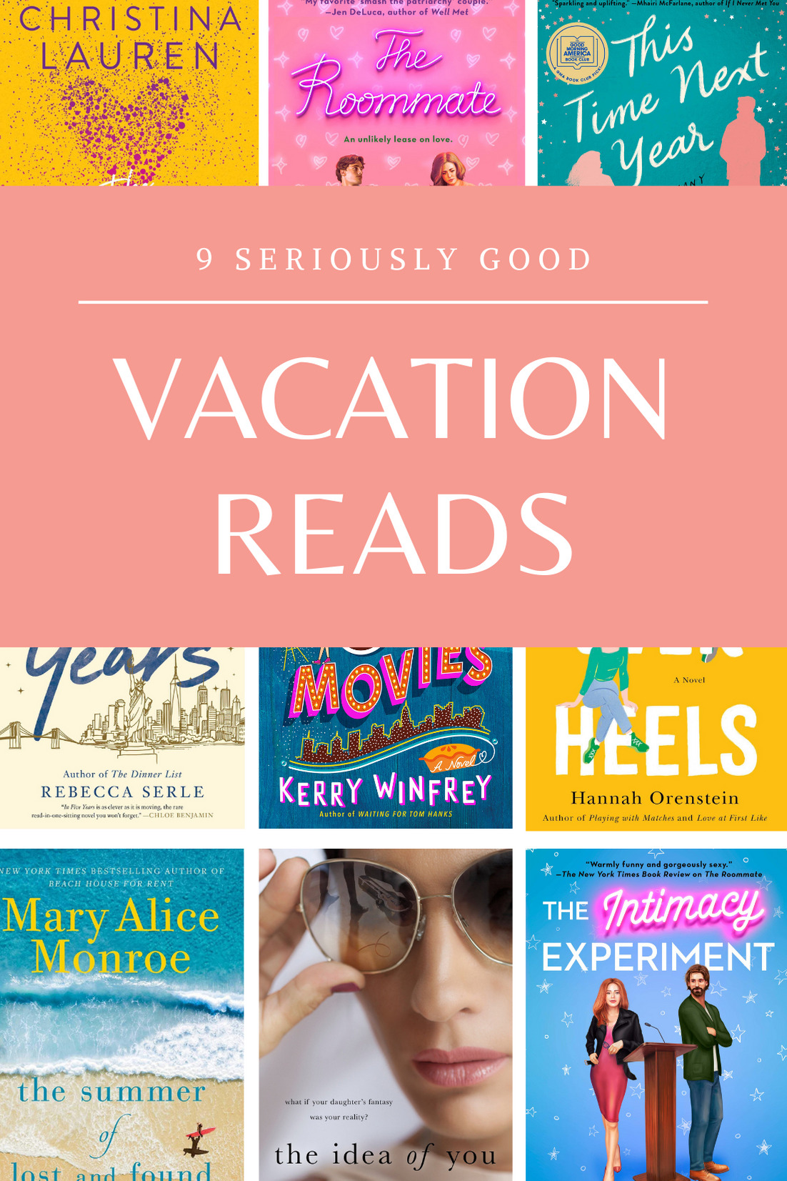 collage of 6 Really Great Beach Reads a.k.a., the Perfect Vacation Books (or basically any time you need a literary escape!) | @glitterinclexi | GLITTERINC.COM