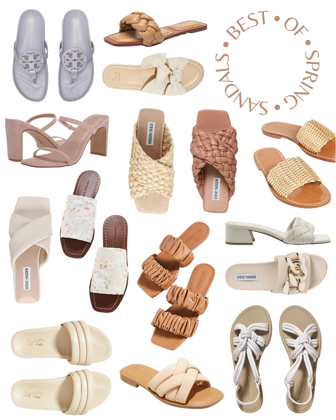 collage of Best of Spring and Summer Sandals