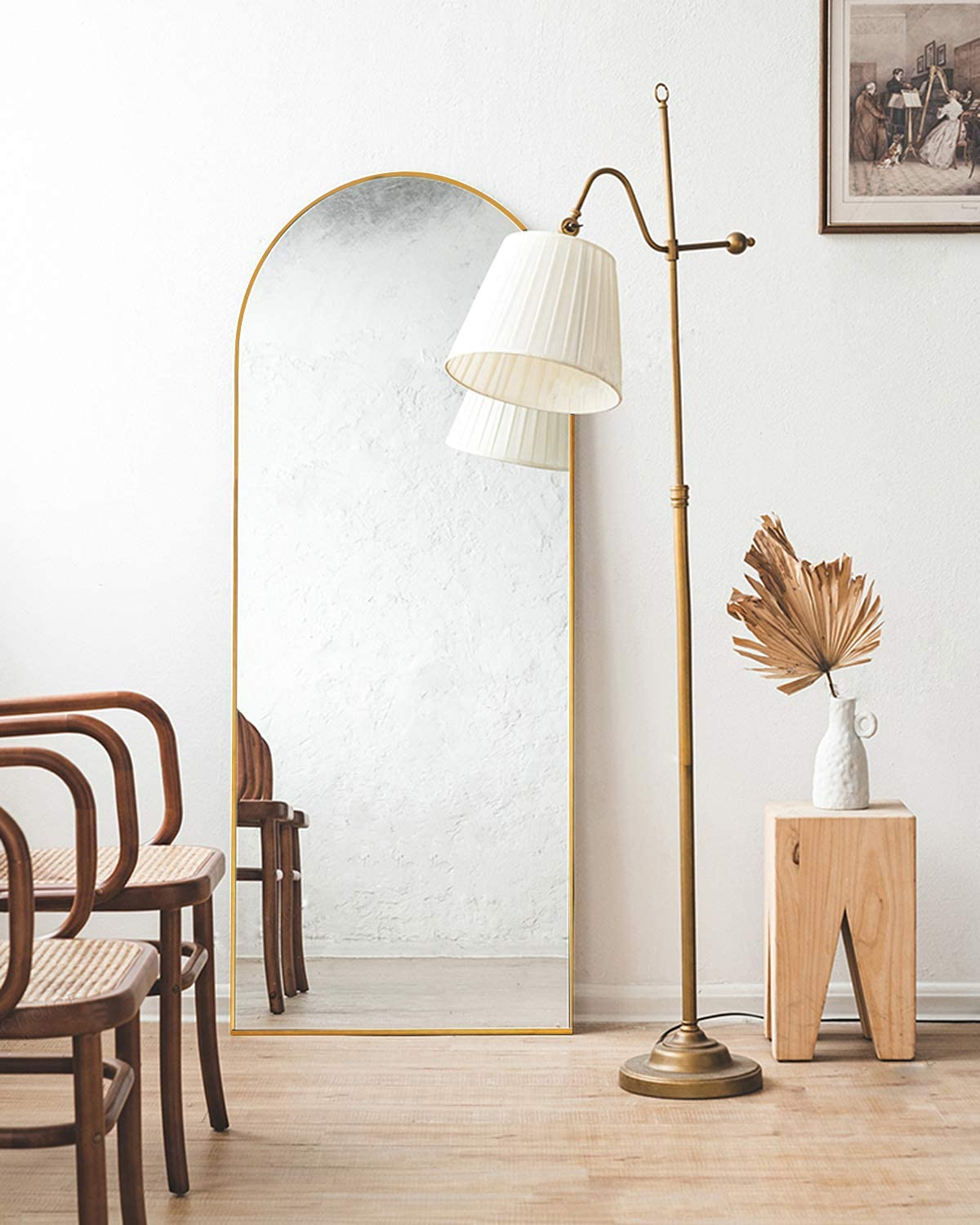 TinyTimes 65''x22'' Arched Full Length Mirror, Floor Mirror with Stand, Full Body Mirror, Wall Mirror, Modern & Contemporary Full Length Mirror for new home wishlist
