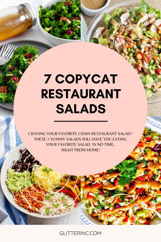 7 Delicious Copycat Restaurant Salad Recipes - Salads from Favorite Chain Restaurants - GLITTERINC.COM