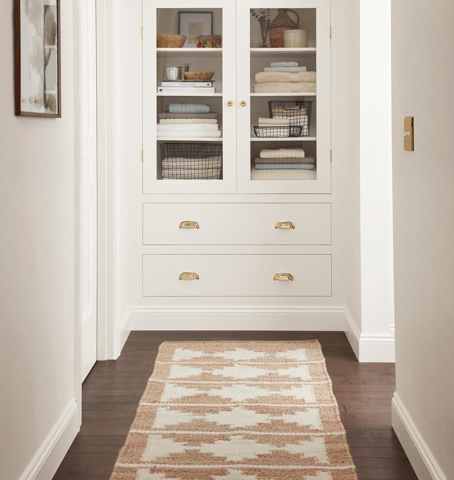 Rejuvenation Bowen Flatweave Jute & Wool Rug on a house hallway for New Home Wishlist