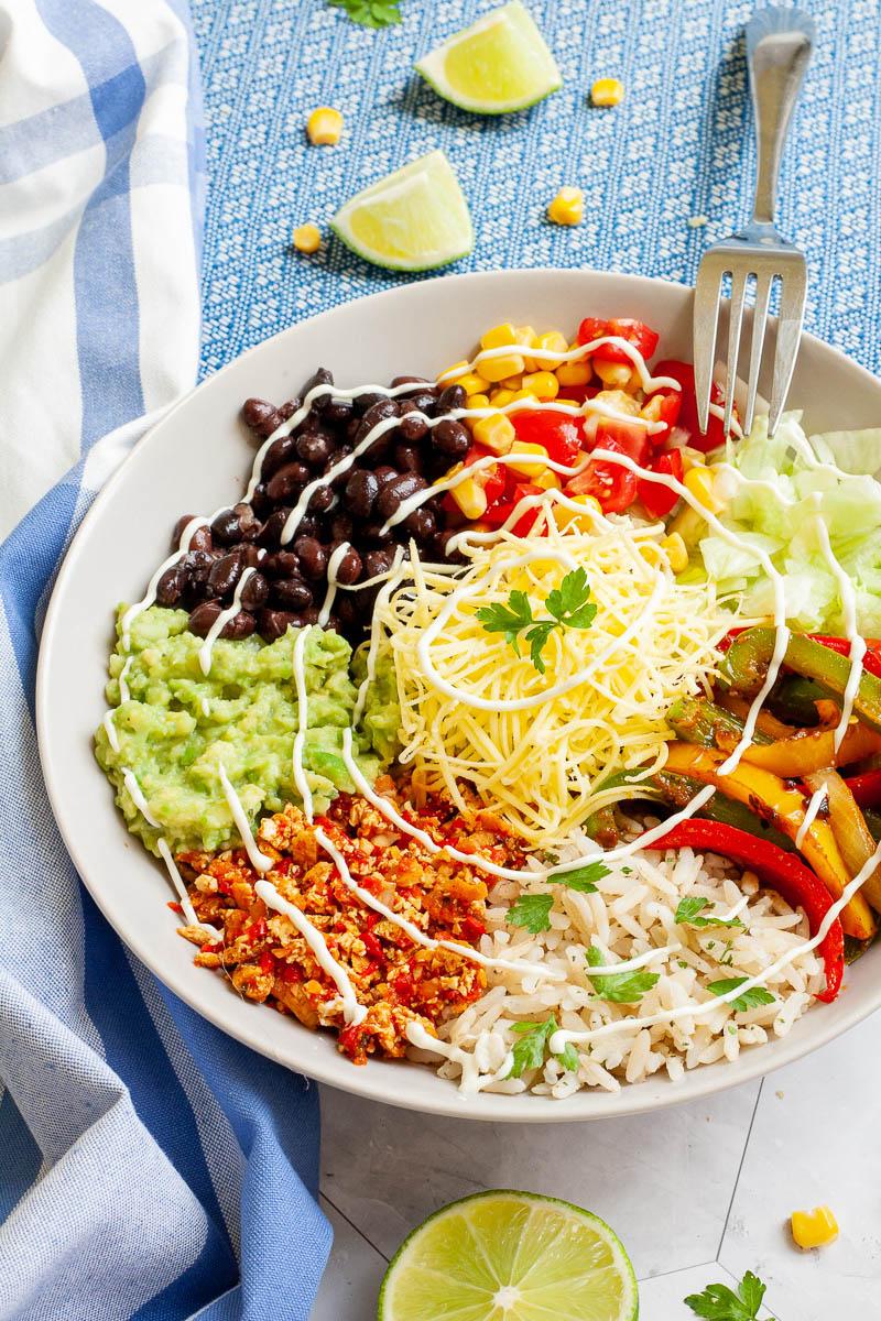 Copycat Chipotle Veggie Salad Bowl