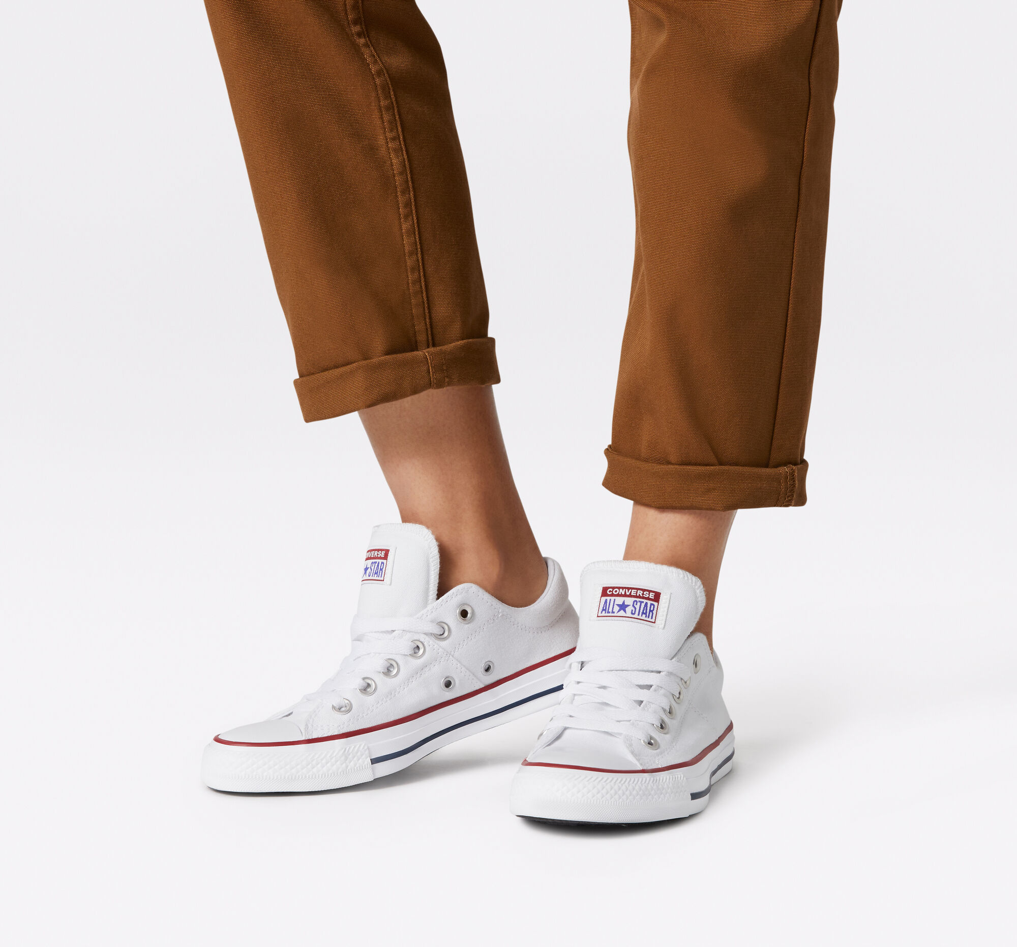 white Chuck Taylor All Star Madison Sneakers summer accessories