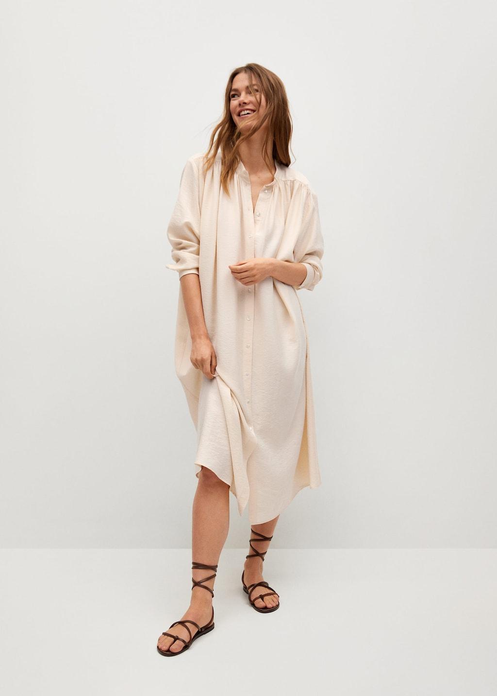 Mango Oversize Shirt Dress