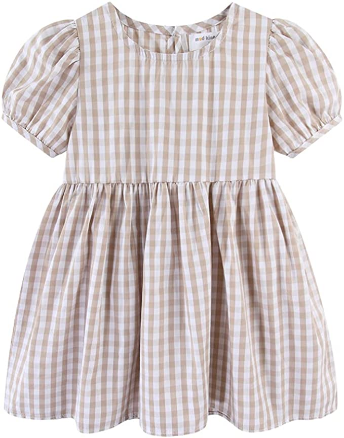 Mud Kingdom Boutique Little Girls Summer Dress with Puff Sleeves