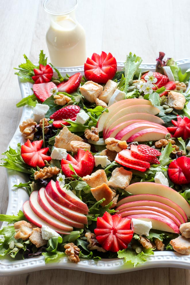 Strawberry Chicken Salad with Creamy Maple Dressing for Incredible Summer Salad Recipes