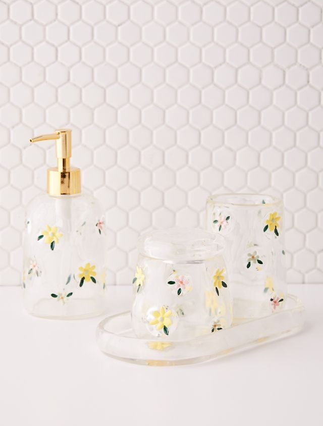 a set of Urban Outfitters Francesca Floral Tumbler