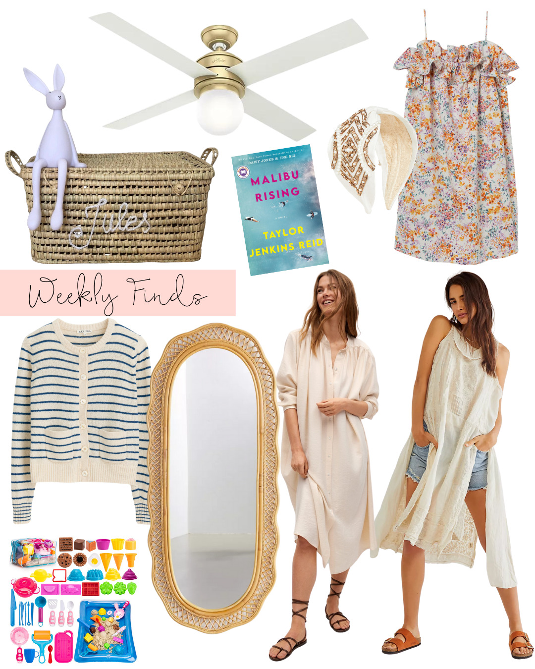 a collage of Weekly Finds + A Few Fun Summer Must-Haves