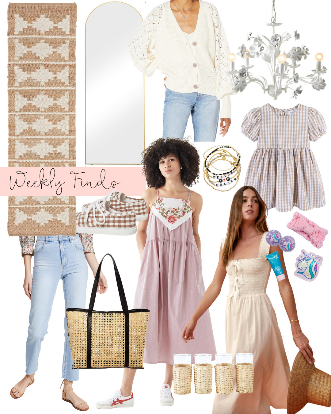 a collage of Weekly Finds + A Few Things On Our New Home Wishlist