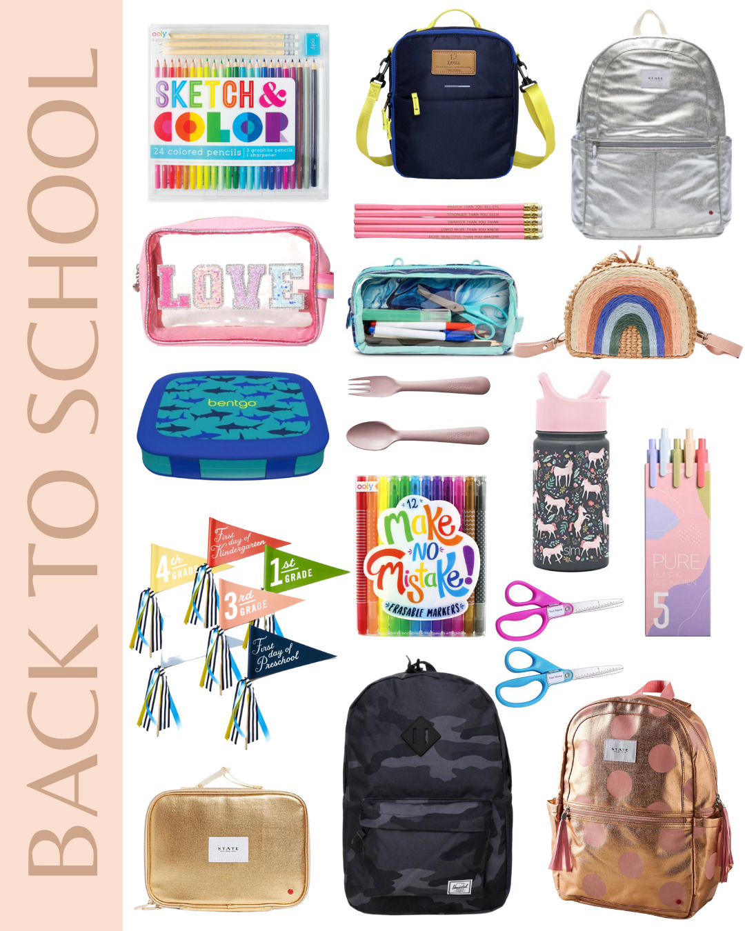 collage of Back to School - The Cutest Kids School Supplies