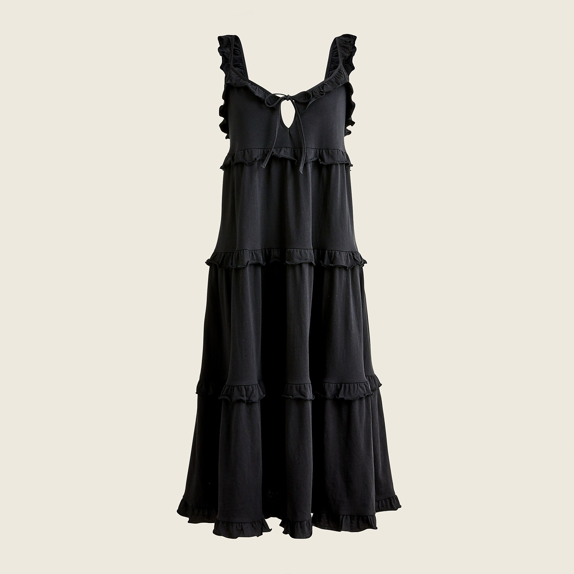 J.Crew Tiered Knit Keyhole Maxi Dress