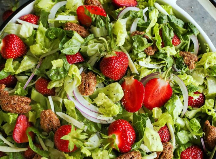 20 Incredible Summer Salads, Including this Strawberry Salad with Candied Pecans and Red Wine Vinaigrette
