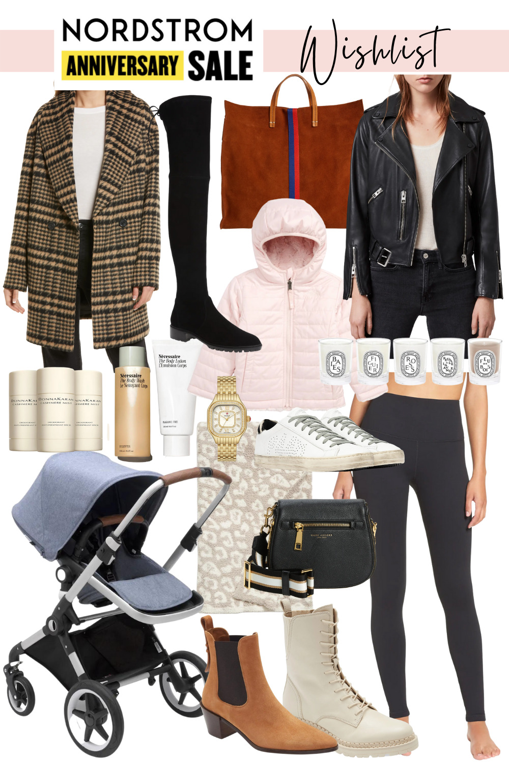 collage of Nordstrom Anniversary Sale Favorites and Mini Wishlist