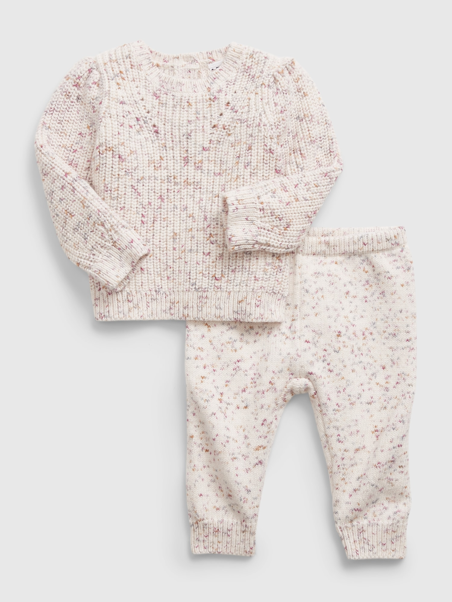 Gap Baby Sweater Set in Ivory Frost