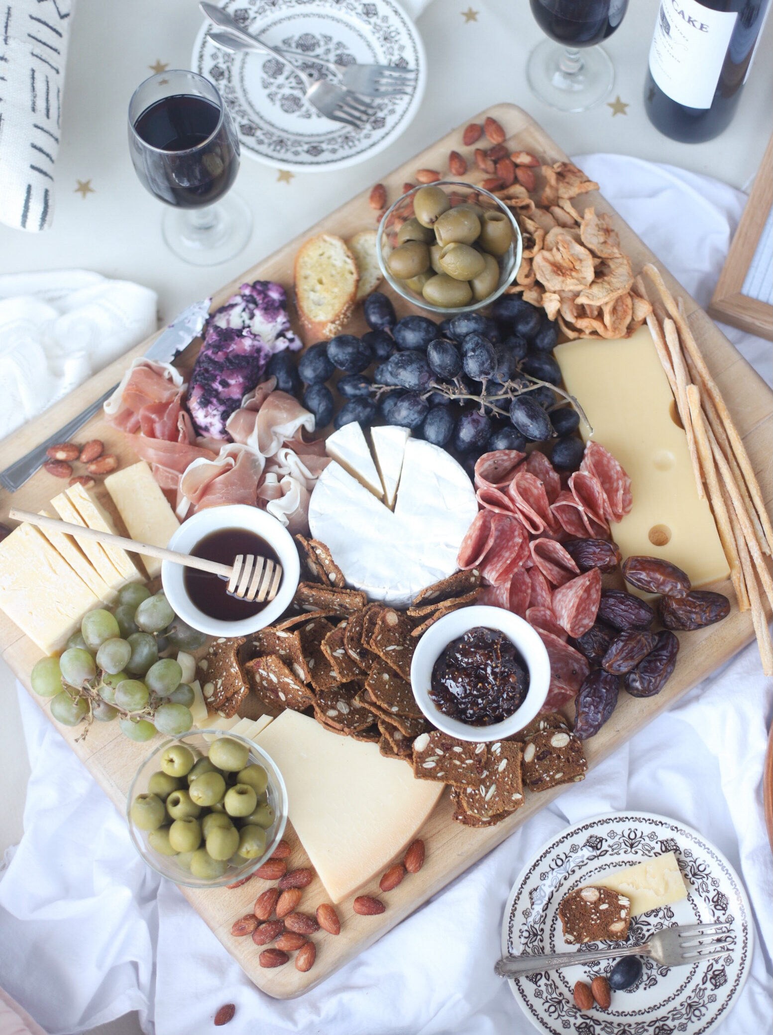 top view of Charcuterie board