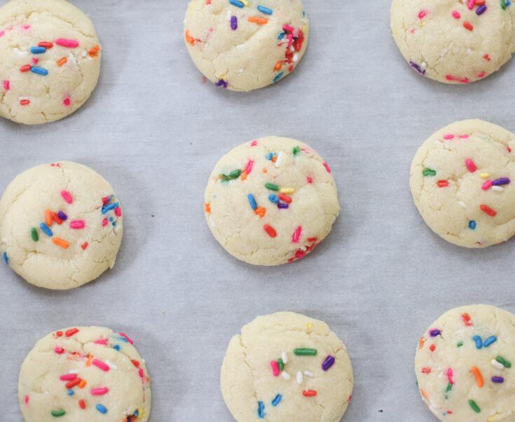 Dairy Free Sprinkle Sugar Cookies