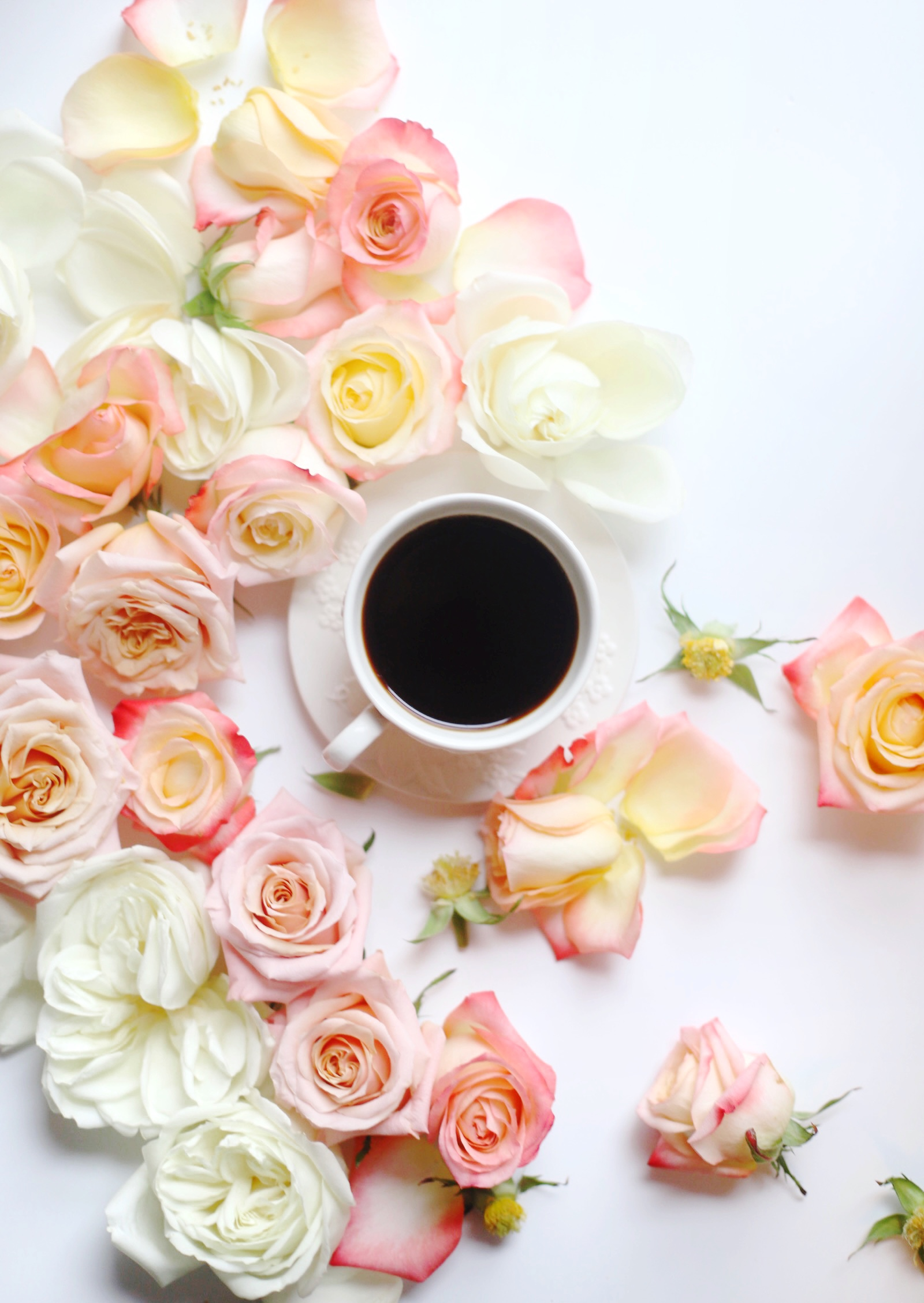 petal roses and black coffee for Weekend Plans