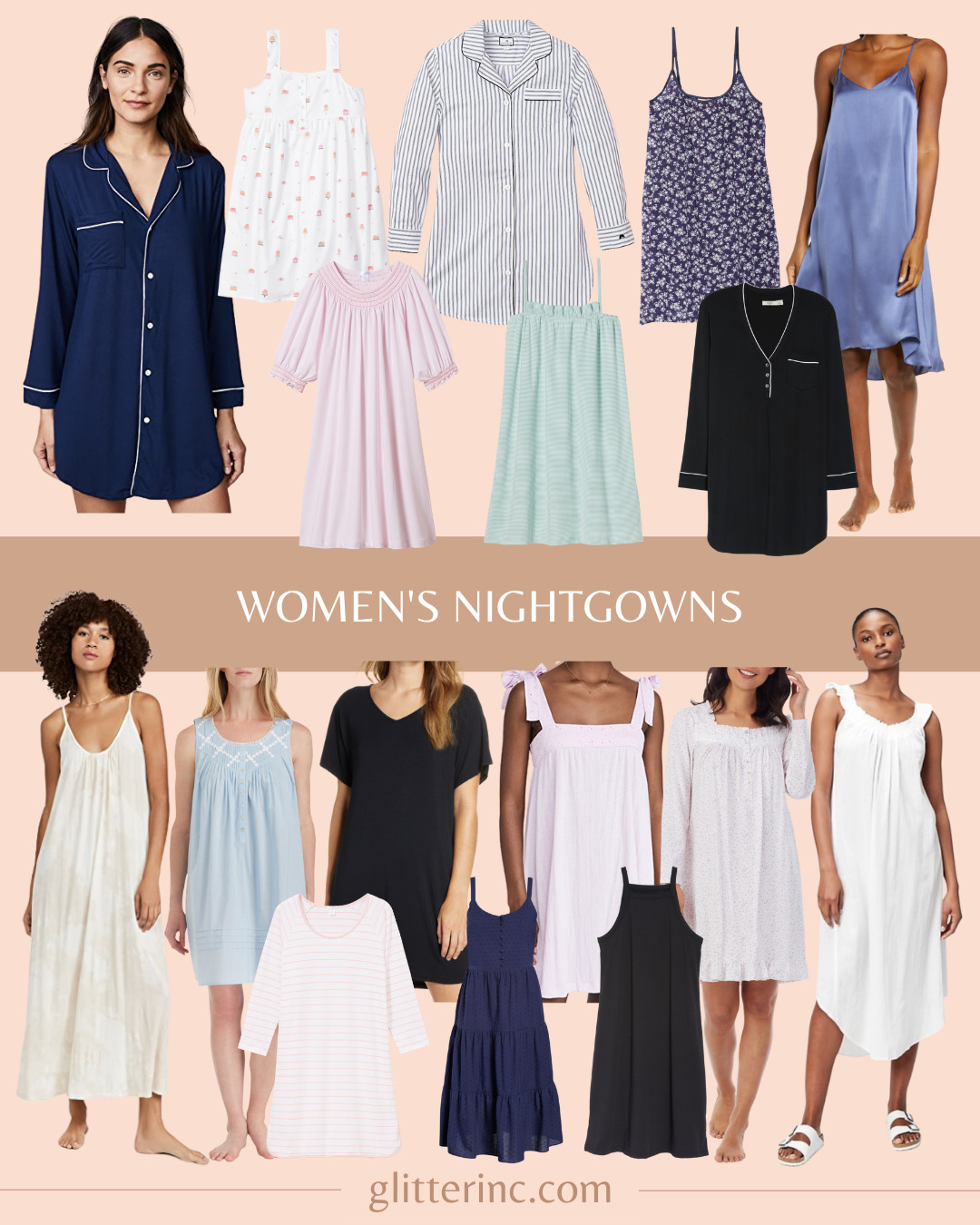 a collage of Trend Spotting Women's Nightgowns