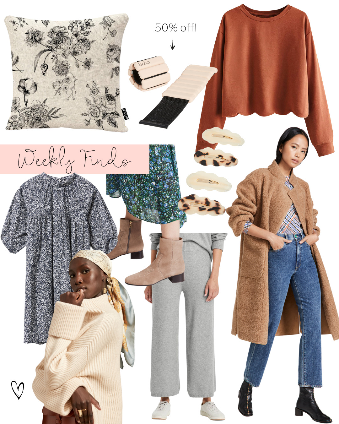 collage of Weekly Finds and the Target Sweater Pant That Are Selling Out Fast