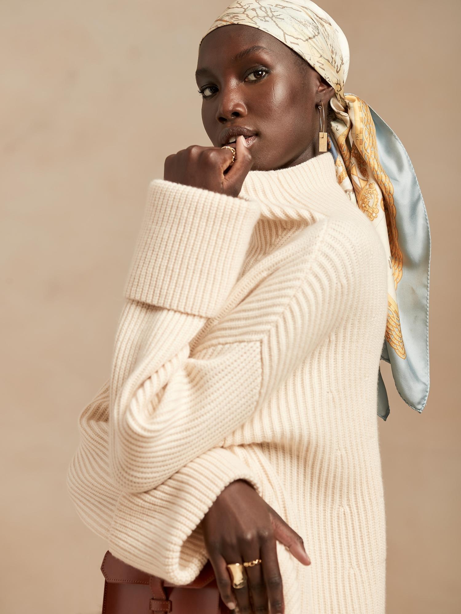 Banana Republic Oversized Merino-Cashmere Sweater