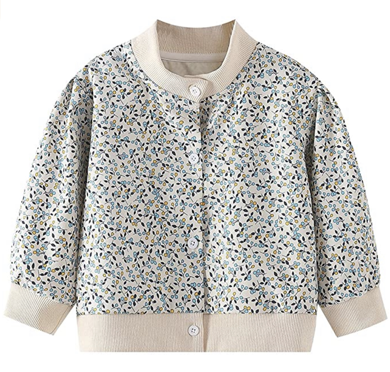 WELAKEN Floral Jacket for Girls Kids & Toddlers
