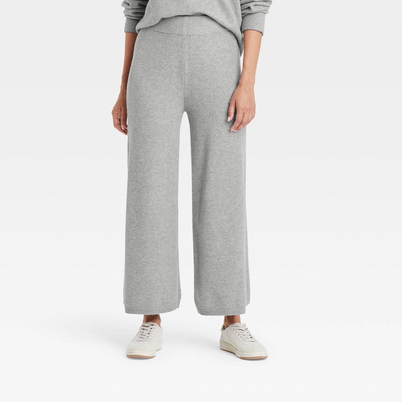 woman wearing grey Target Sweater Pants
