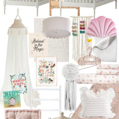 My Plans for the Girls Whimsical Mermaid Shared Bedroom - GLITTERINC.COM