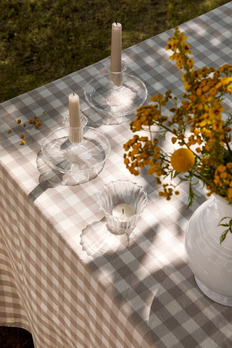 H&M Glass Candlesticks fall tabletop pieces