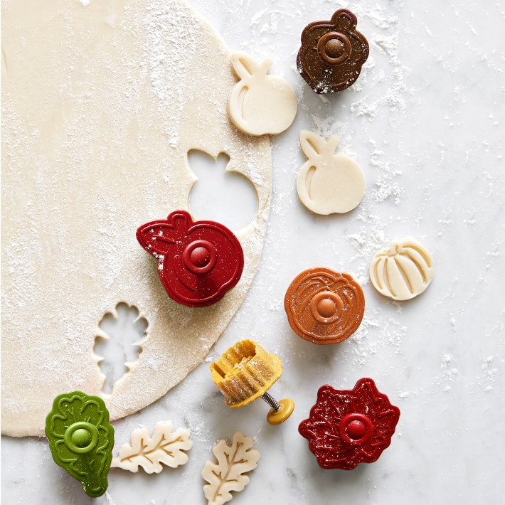 Williams Sonoma Fall Pie Punches & Impression Cookie Cutters, Set of 6