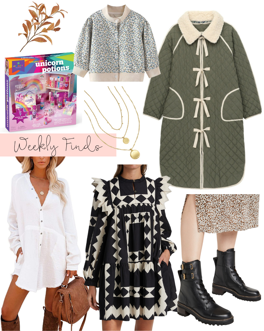 collage of Weekly Finds and Early Fall Things