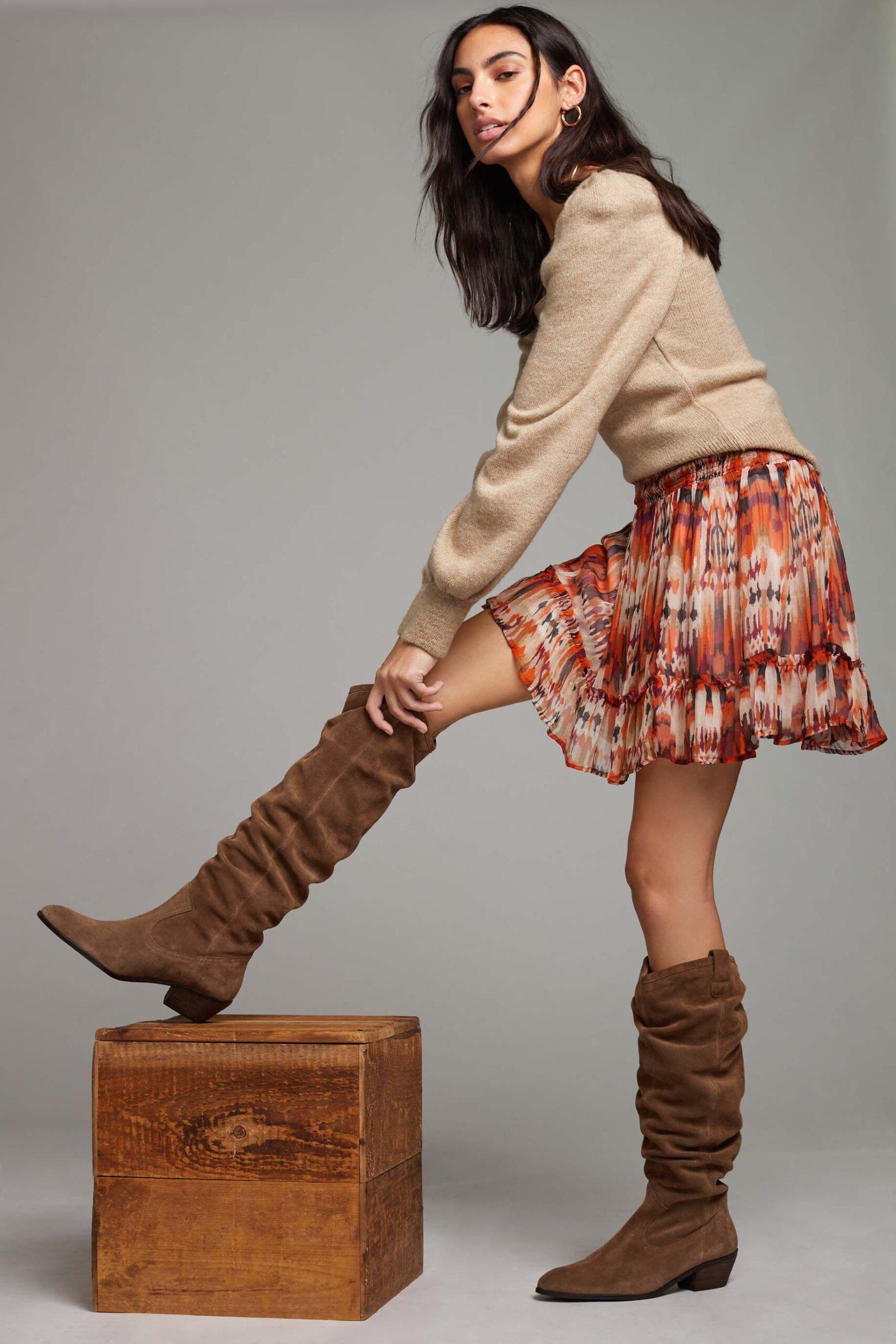 Anthropologie Tall Scrunch Boots