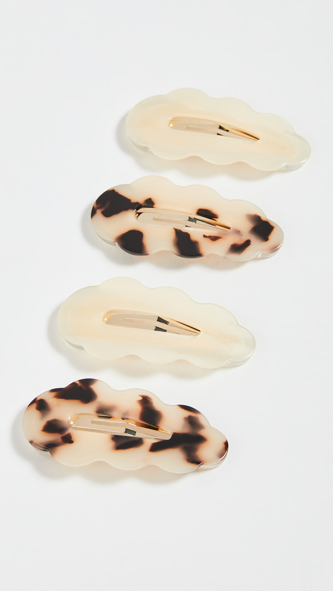 Loeffler Randall Wavy Resin Clip Set accessories you can wear with Target sweater pants