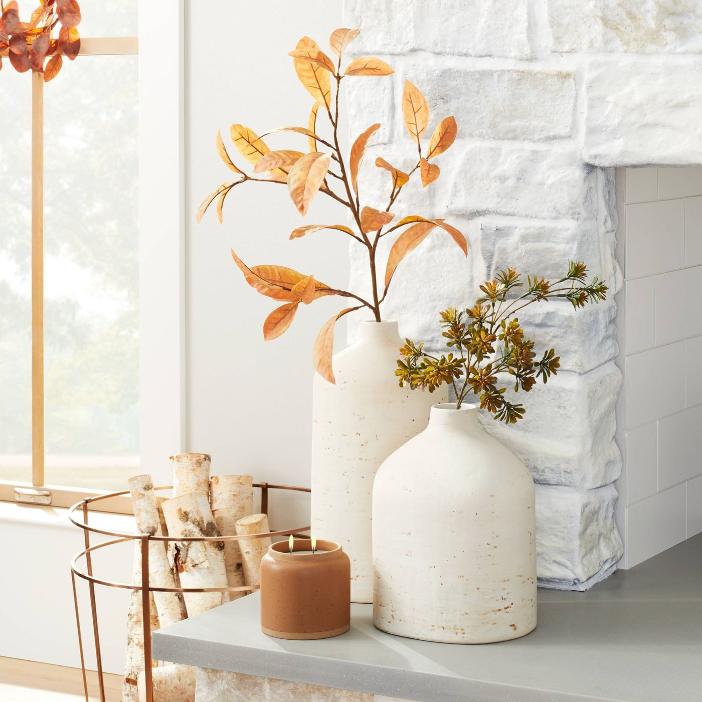 Hearth & Hand with Magnolia Faux Rusted Croton Plant Stem