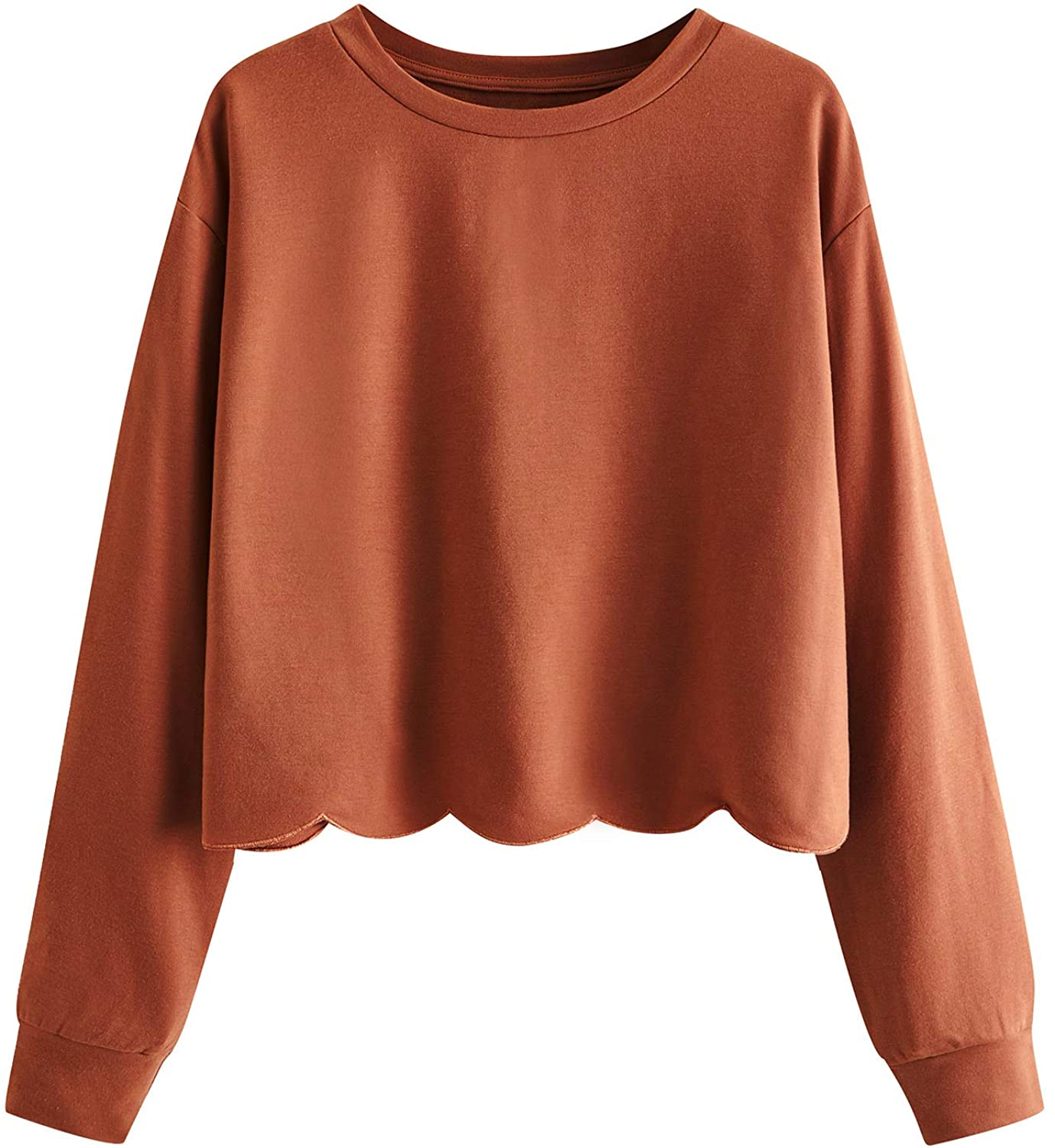 Romwe Casual Scalloped Sweatshirt awesome pair for target sweater pants