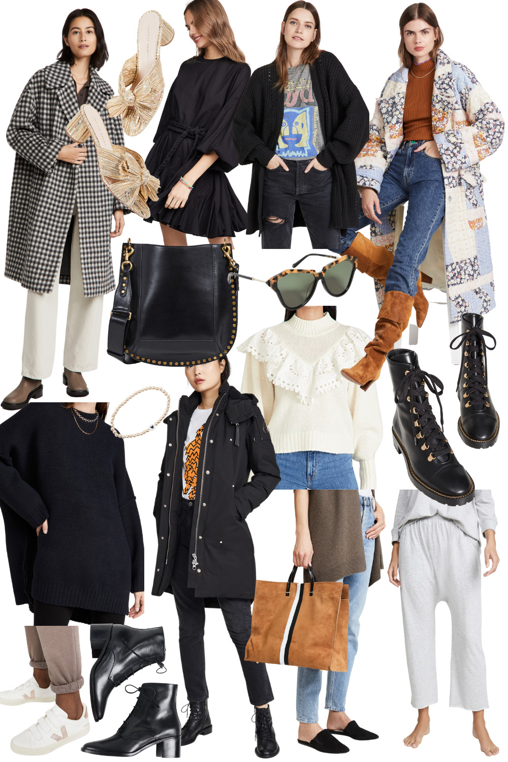 collage of items from the shopbop Style Event Sale