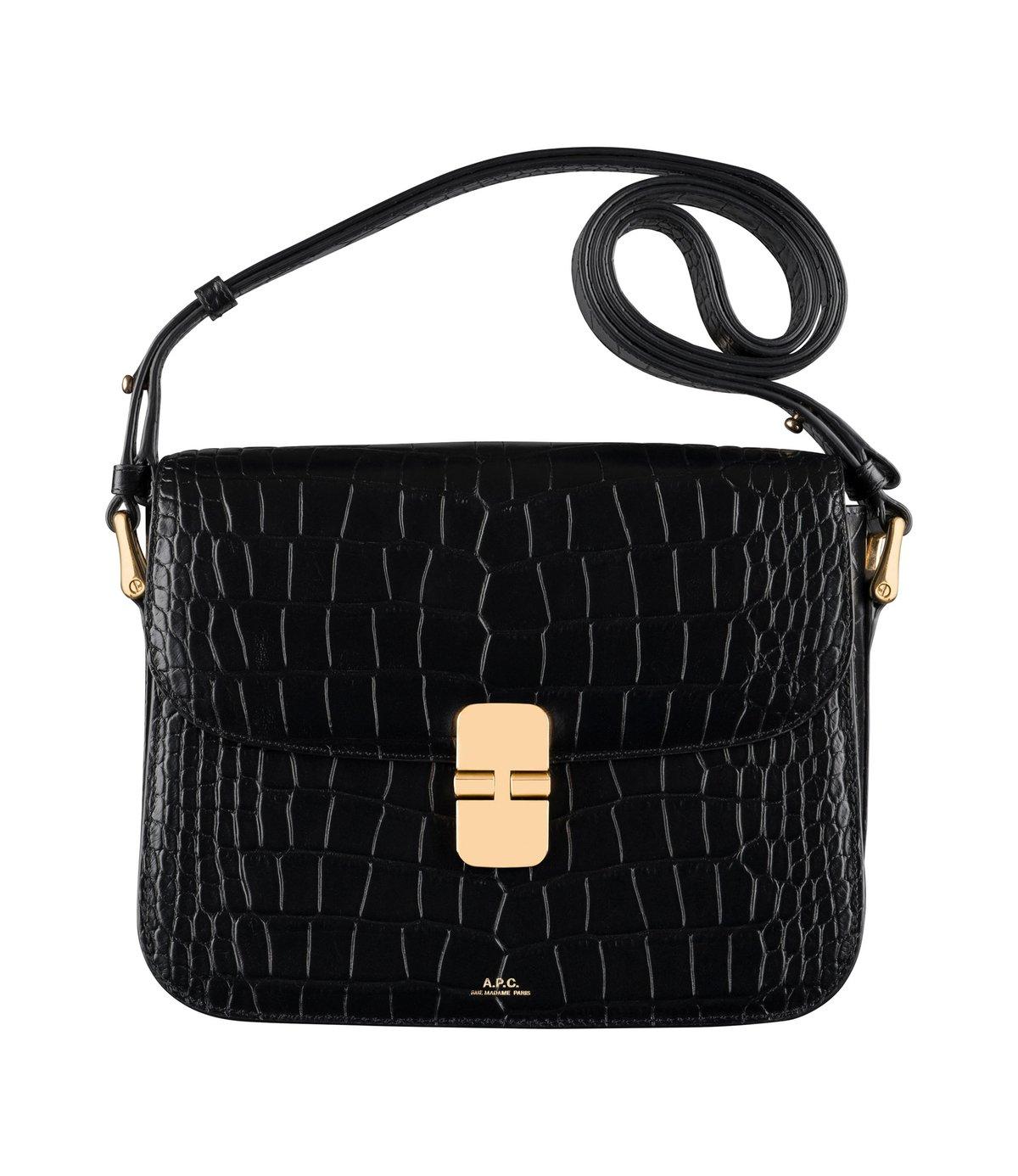 A.P.C. Grace Lizard-Effect Leather Shoulder Bag