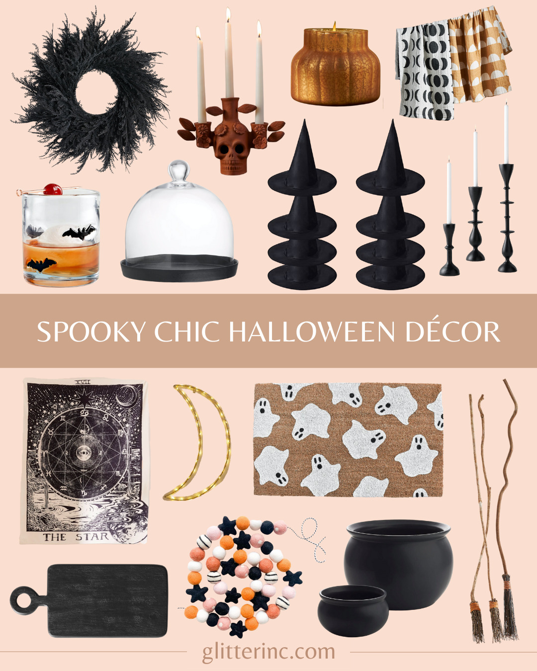 different types of spooky chic halloween decor